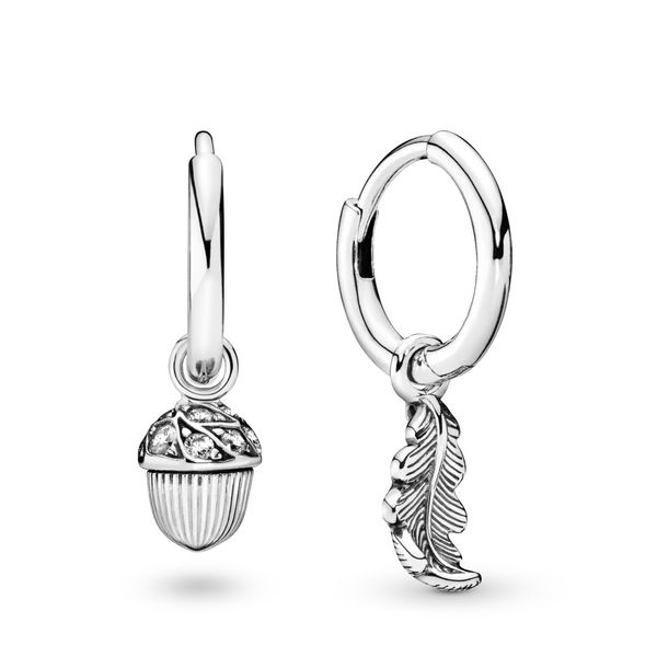 Pandora Acorn & Leaf Hoop Earrings SVS Fine Jewelry Oceanside, NY
