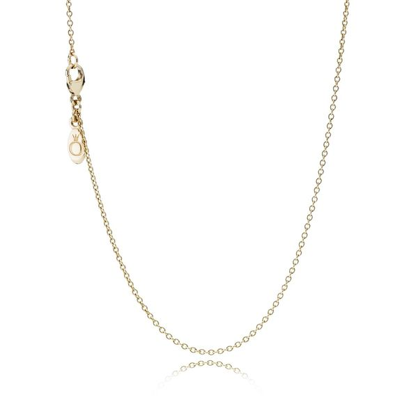 Pandora Icons Collection 14K Yellow Gold Anchor Necklace SVS Fine Jewelry Oceanside, NY