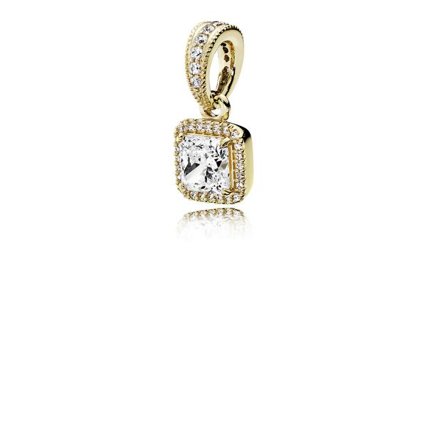 Pandora Timeless Collection 14K Yellow Gold Halo Pendant SVS Fine Jewelry Oceanside, NY