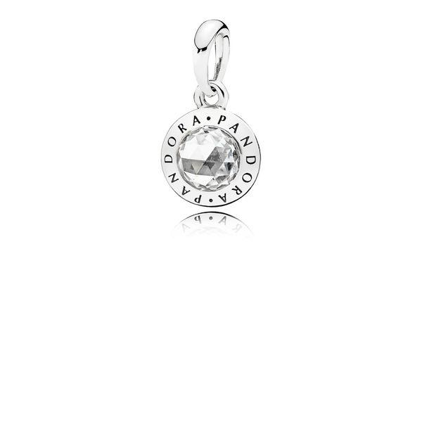 Pandora Radiant Pandora Logo Pendant 001 781 00720 Svs Fine Jewelry Oceanside Ny