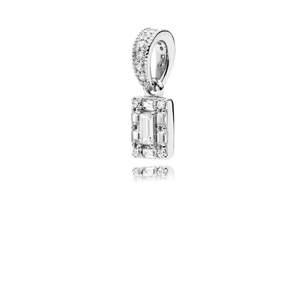 Pandora Timeless Collection Sterling Silver Square Pendant SVS Fine Jewelry Oceanside, NY