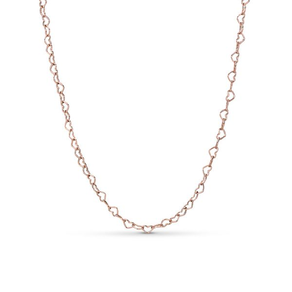 Pandora Icons Collection Rose Gold Plated Silver Necklace SVS Fine Jewelry Oceanside, NY