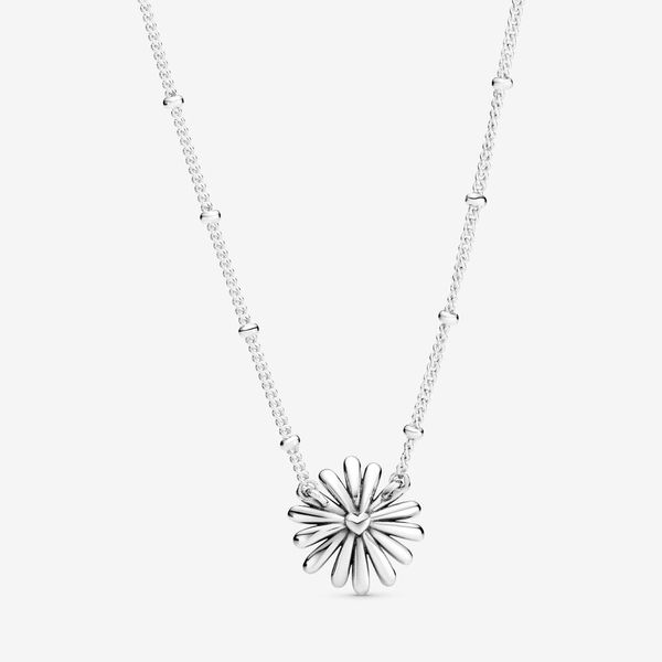 Pandora Garden Collection Sterling Silver Daisy Necklace Image 2 SVS Fine Jewelry Oceanside, NY