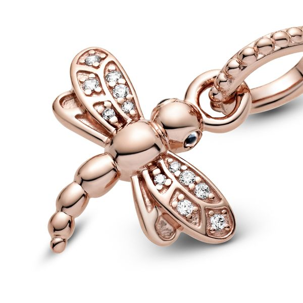 Pandora Garden Collection Rose Gold Plated Silver Pendant SVS Fine Jewelry Oceanside, NY