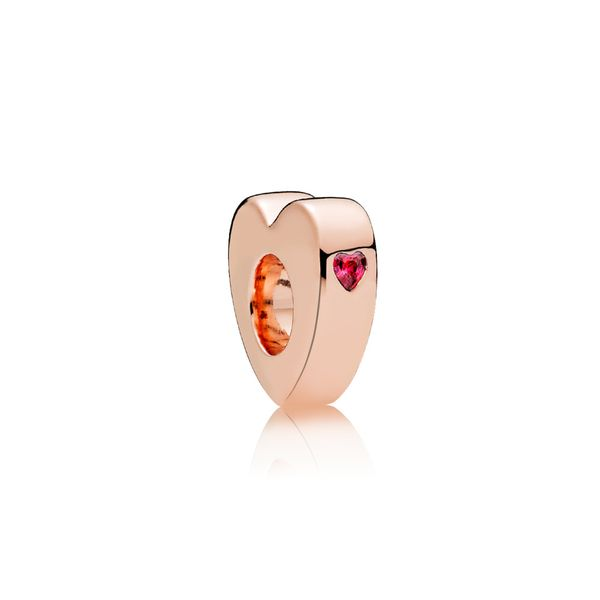Heart-shaped spacer in Rose and engraving 'You & me