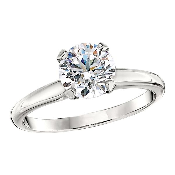 18k White Gold Tiffany Engagement Ring