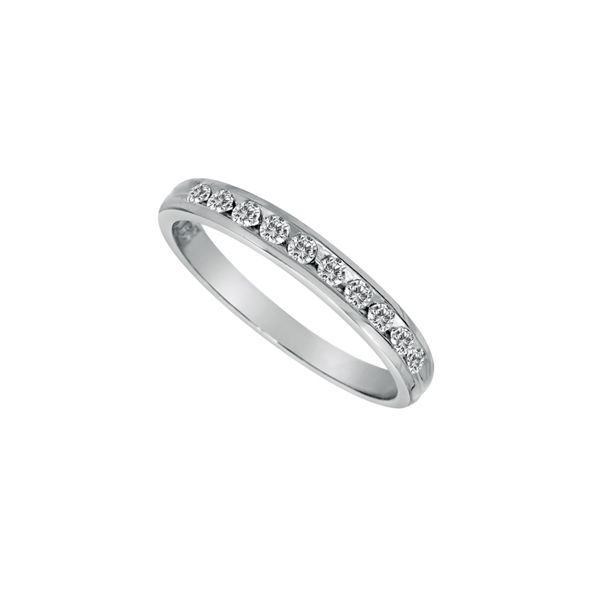 14K White Gold Diamond Wedding Band  11 dia's =.39cts., G-SI size 6 Swede's Jewelers East Windsor, CT