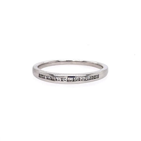 Allison Kaufman 14k White Gold Channel set band with .12tw Diamonds WR828 1/8 Swede's Jewelers East Windsor, CT