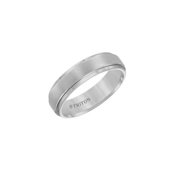 Tungsten Carbide 6mm wide size 10 Brushed Band Swede's Jewelers East Windsor, CT