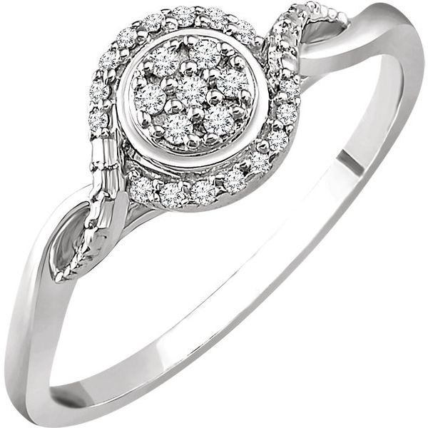 10K White Gold Promise Ring with .10tw Diamond Ring Swede's Jewelers East Windsor, CT