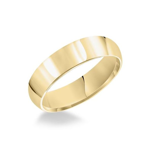 Artcarved Mans, 14 karat yellow gold plain comfort fit wedding ring, style #PIR050, Size 10.50 Swede's Jewelers East Windsor, CT