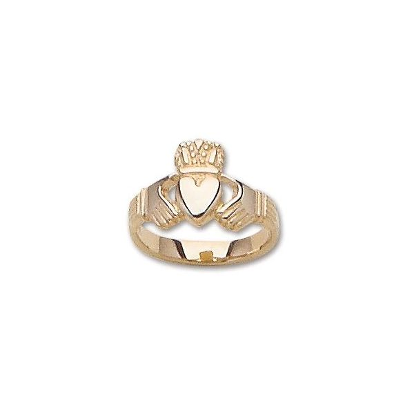 14K Yellow Gold Claddaugh Ring size 6 Swede's Jewelers East Windsor, CT