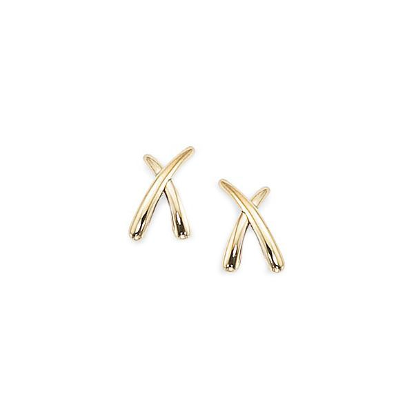 Carla 14K Gold X Post Earrings Swede's Jewelers East Windsor, CT