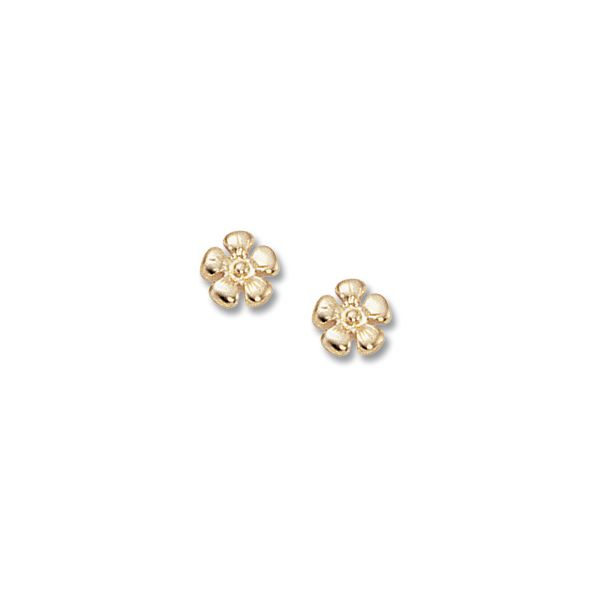 Carla 14K Yellow Small Flower Earring Swede's Jewelers East Windsor, CT