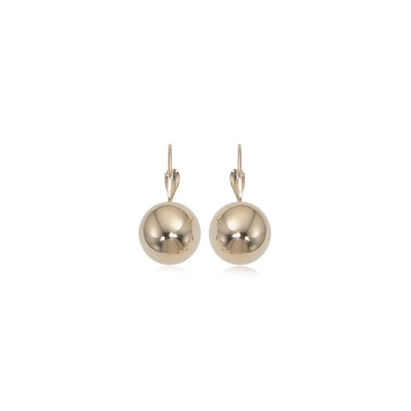 Carla 14K Yellow Gold 10mm Lever Back Ball Dangle Earrings Swede's Jewelers East Windsor, CT