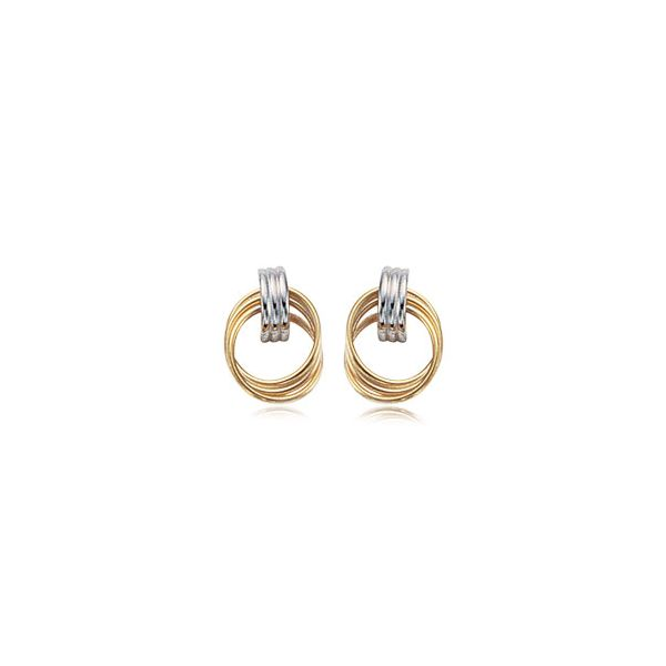 Carla 14K Yellow & White Gold Door Knocker Earrings Swede's Jewelers East Windsor, CT