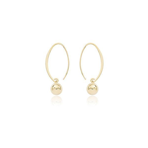 Carla 14Kt Yellow Gold Dangle with 8mm Ball. Swede's Jewelers East Windsor, CT