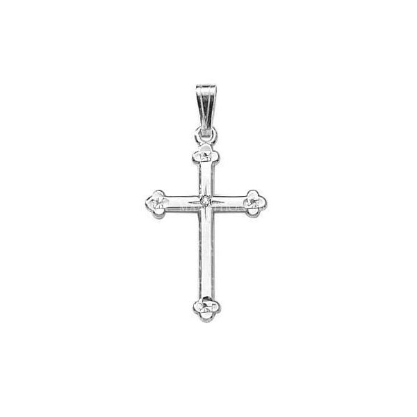 14K White Gold Cross Swede's Jewelers East Windsor, CT