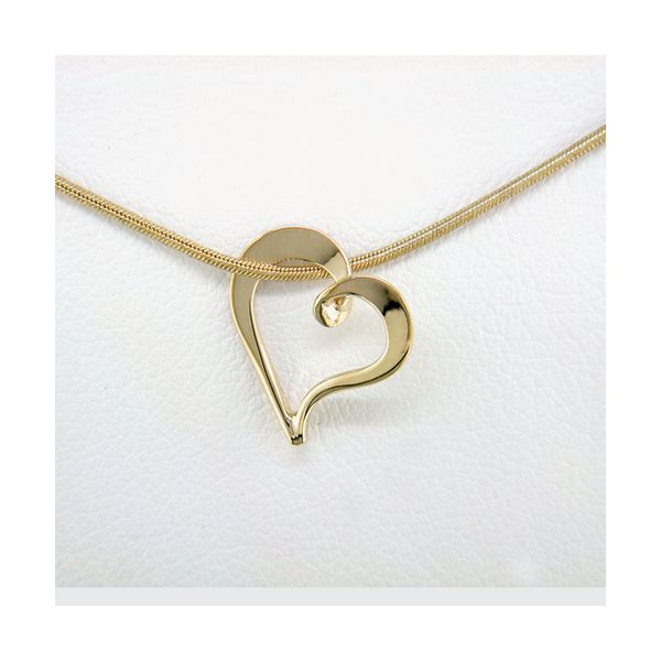 Tom Kruskal 14Kt Yellow Gold Floating Heart Swede's Jewelers East Windsor, CT