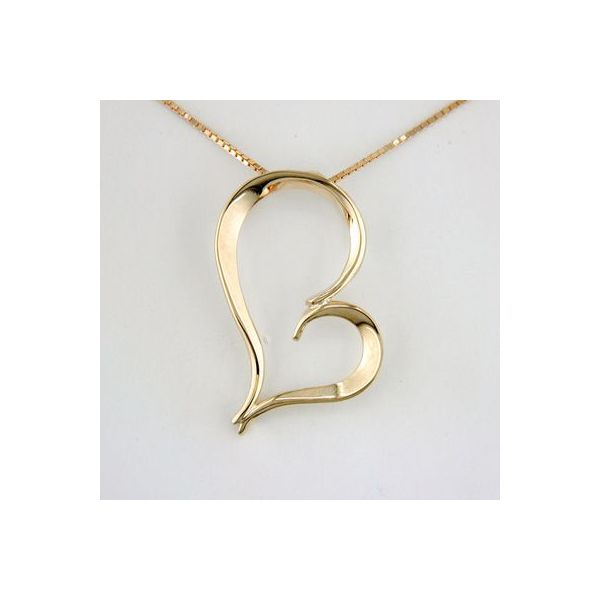 Tom Kruskal 14Kt. Yellow Gold Mothers Heart Pendant Swede's Jewelers East Windsor, CT