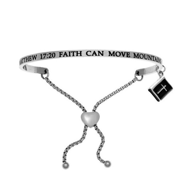 Intuition Stainless Steel Matthew 17:20 Faith cna Move Mountains  Friendship Bracelet Swede's Jewelers East Windsor, CT