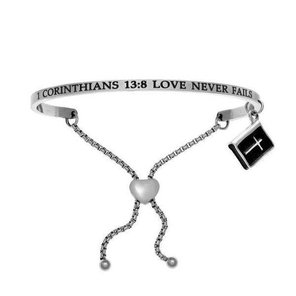 Intuition Stainless Steel 1 Corinthians 13:8 Love Never Fails Friendship Bracelet Swede's Jewelers East Windsor, CT