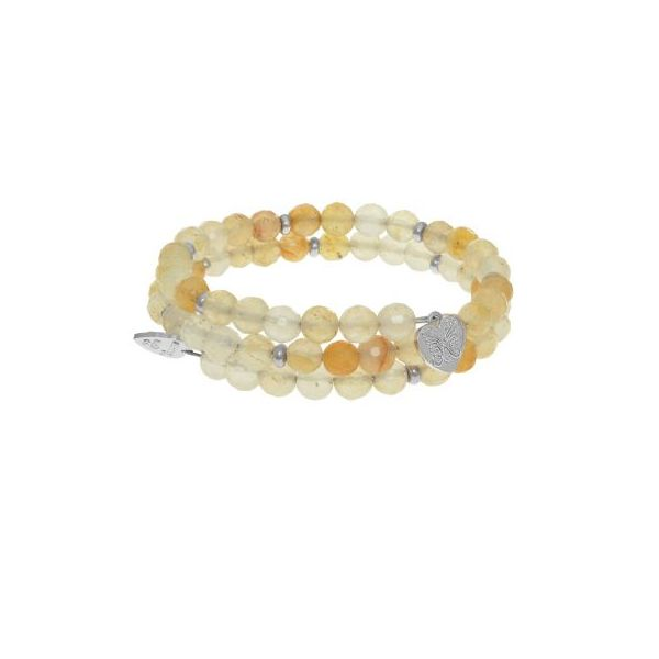 Angelica Bracelet With Cut Yellow Jade Beads Swede's Jewelers East Windsor, CT