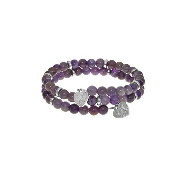 Angelica Small bangle with Amethyst Swede's Jewelers East Windsor, CT