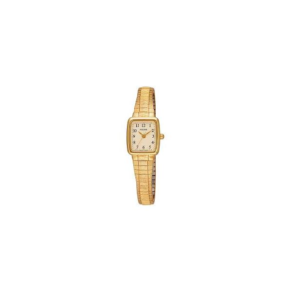 Pulsar Ladies quartz watch, Stainless Steel Expansion Band Square white dial Swede's Jewelers East Windsor, CT
