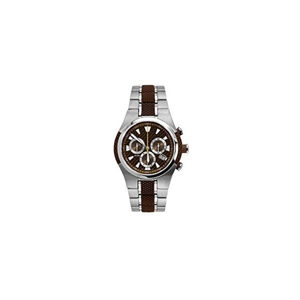 Swede's - Man's Sport Chronograph Watch With A Brown Dial And A Stainless Steel & Brown Rubber Band Swede's Jewelers East Windsor, CT