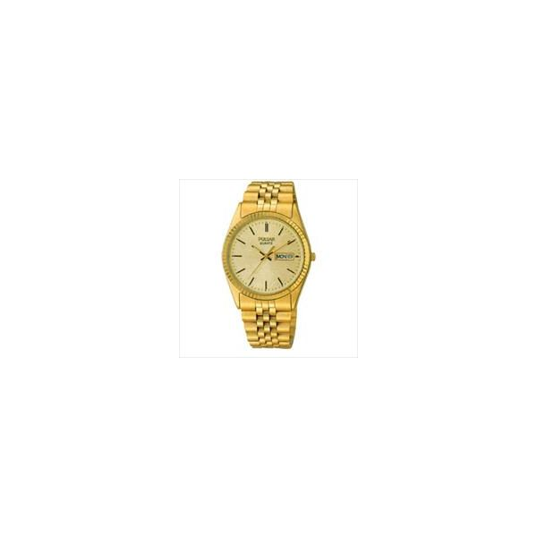 Pulsar Mens Watch Yellow Tone Bracelet With Yellow Dial And Day & Date Swede's Jewelers East Windsor, CT