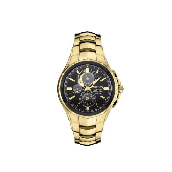 Gents Yellow Chronograph Solar Watch Swede's Jewelers East Windsor, CT