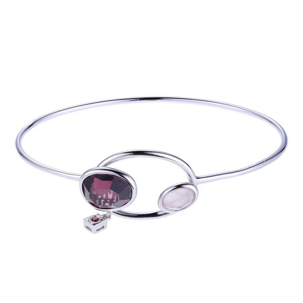 Elle Sterling Silver Bangle Length 7 25