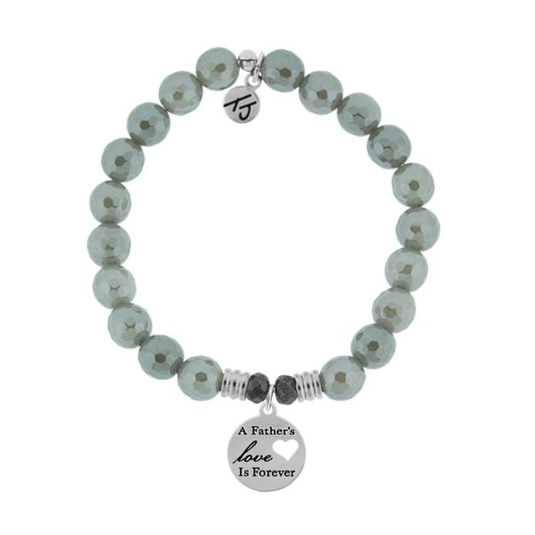 Tjazelle Grey Agate 8Mm Bracelet Fathers Love Swede's Jewelers East Windsor, CT