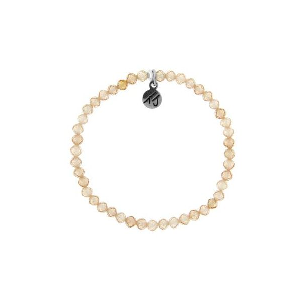 T. Jazelle Champagne 4Mm Beaded Bracelet. Swede's Jewelers East Windsor, CT