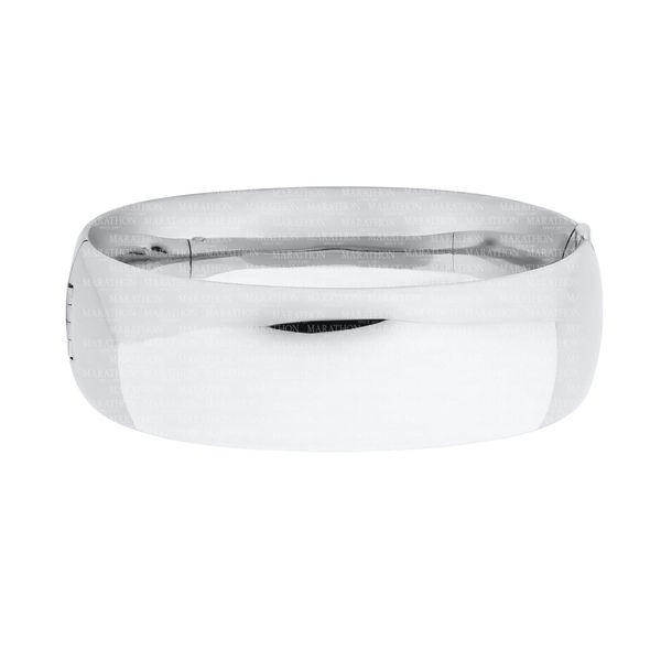 Sterling Silver 21mm Wide Bangle Bracelet Swede's Jewelers East Windsor, CT