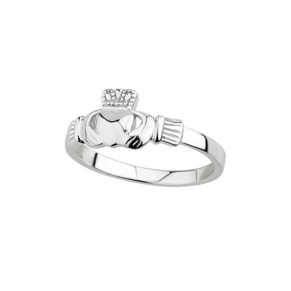 Sterling Silver Ladies Claddagh Ring, Size 7. Swede's Jewelers East Windsor, CT