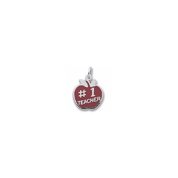 Sterling Silver Teacher charm Swede's Jewelers East Windsor, CT