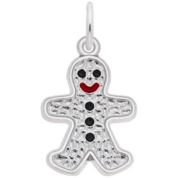 Sterling Silver Gingerbread Man Charm Swede's Jewelers East Windsor, CT
