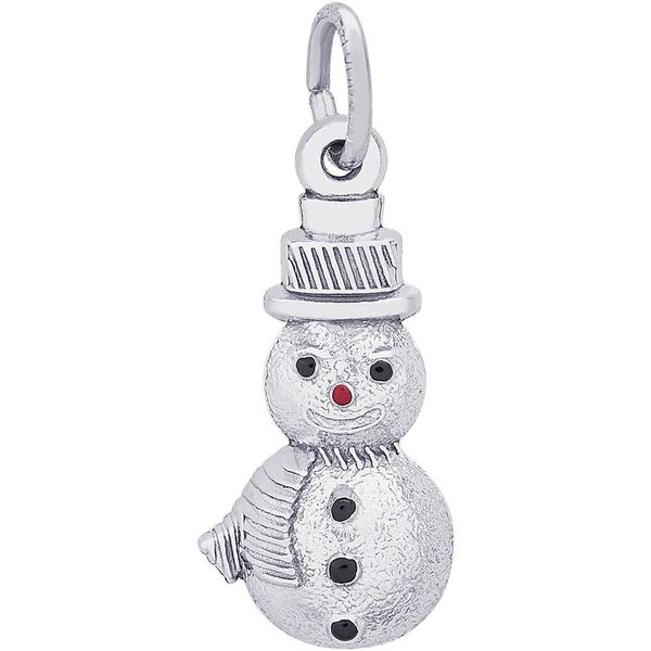 Sterling Silver Enameled Snowman Charm Swede's Jewelers East Windsor, CT