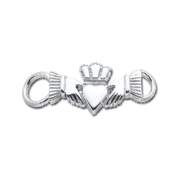 Convertible Bracelet Claddagh Clasp in Sterling Silver Swede's Jewelers East Windsor, CT