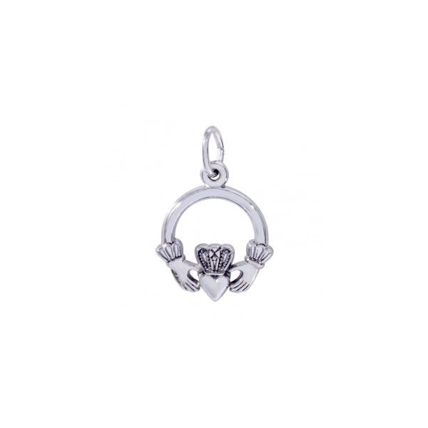 Sterling Silver Claddagh charm Swede's Jewelers East Windsor, CT