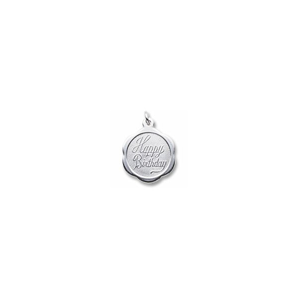 Sterling Silver Hapy Birthday charm Swede's Jewelers East Windsor, CT