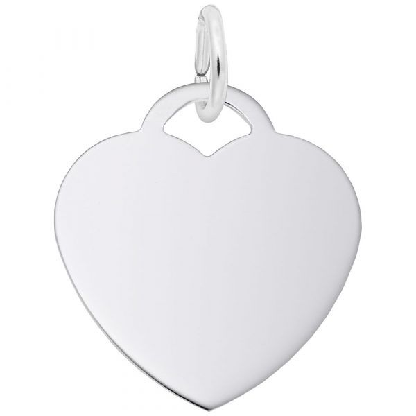 Sterling Silver Medium Heart Charm - 50 Series Swede's Jewelers East Windsor, CT