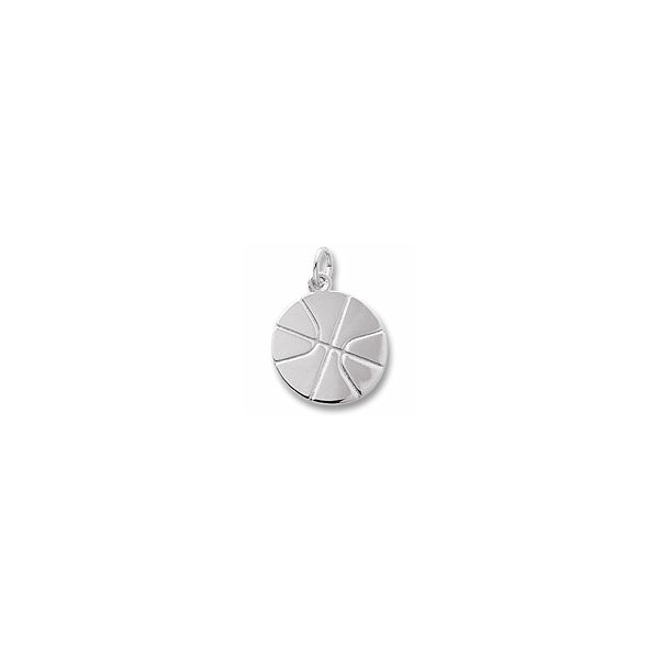 Sterling Silver Basketball charm Swede's Jewelers East Windsor, CT
