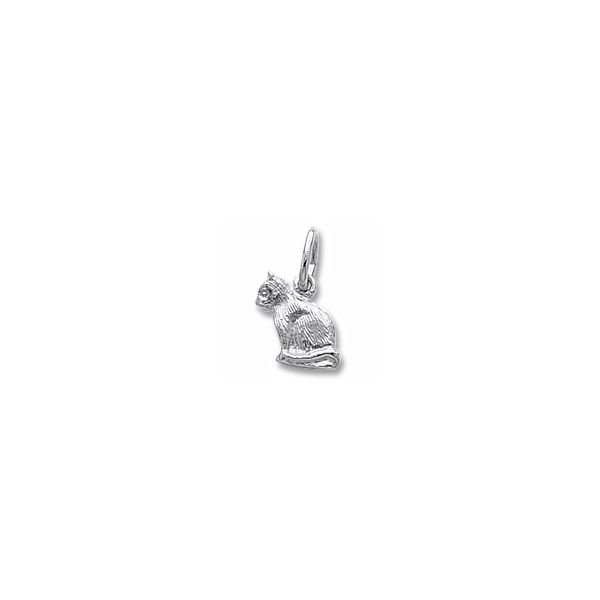 Sterling Silver Cat charm Swede's Jewelers East Windsor, CT