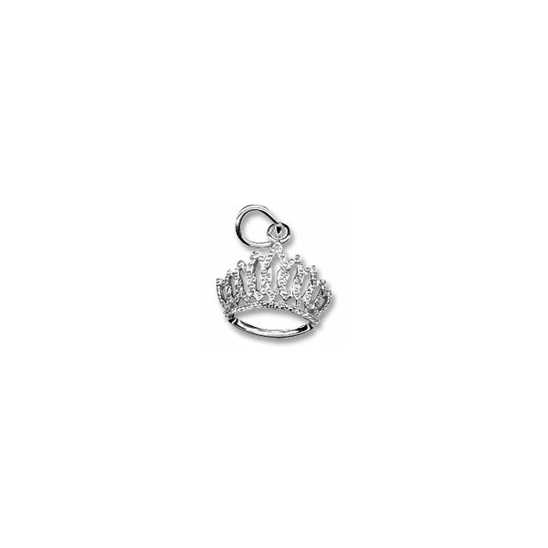 Sterling Silver Tiara charm Swede's Jewelers East Windsor, CT