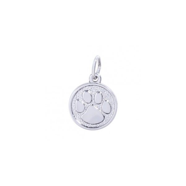 Sterling Silver Paw Print charm Swede's Jewelers East Windsor, CT