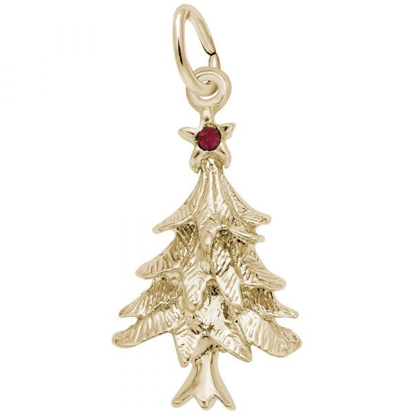 Sterling Silver Gold Overlay Christmas Tree Charm Swede's Jewelers East Windsor, CT