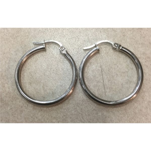 S/S 25mm X 2mm Hoops Swede's Jewelers East Windsor, CT